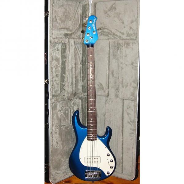Custom Music Man Stingray 5  blue with matching headstock #1 image