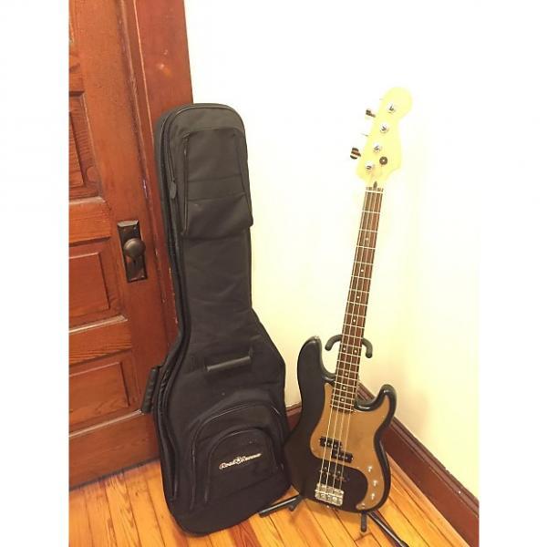 Custom Fender No Name PJ Bass w/ Case Black & Gold #1 image