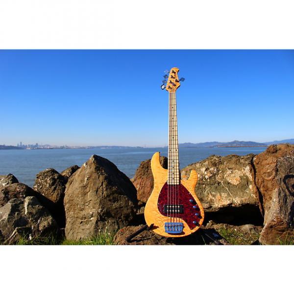 Custom OLP Tony Levin Signature 5-String Bass  Flamed Natural #1 image