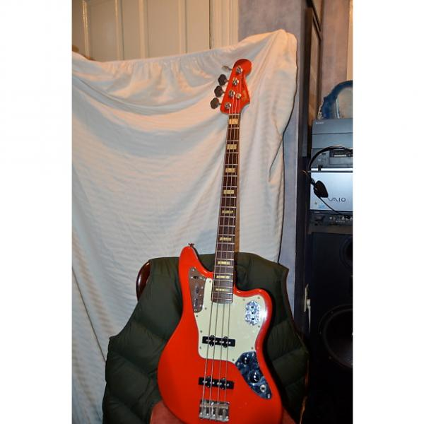 Custom Fender  jaguar bass guitar red #1 image