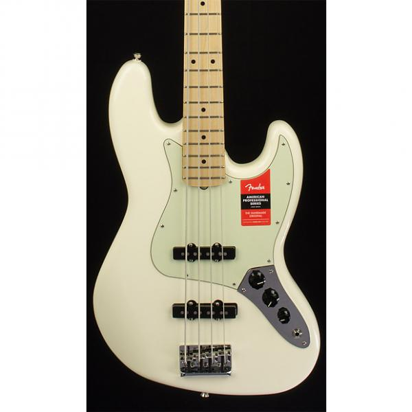 Custom Fender American Professional Jazz Bass, Maple Fingerboard, Olympic White #1 image