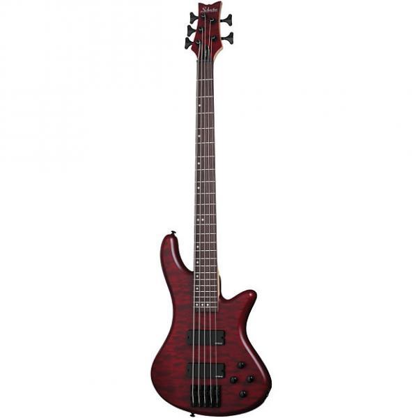 Custom Schecter Stiletto Custom-5 Vampyre Red Satin VRS B-STOCK 5-String Bass Guitar Custom 5 #1 image