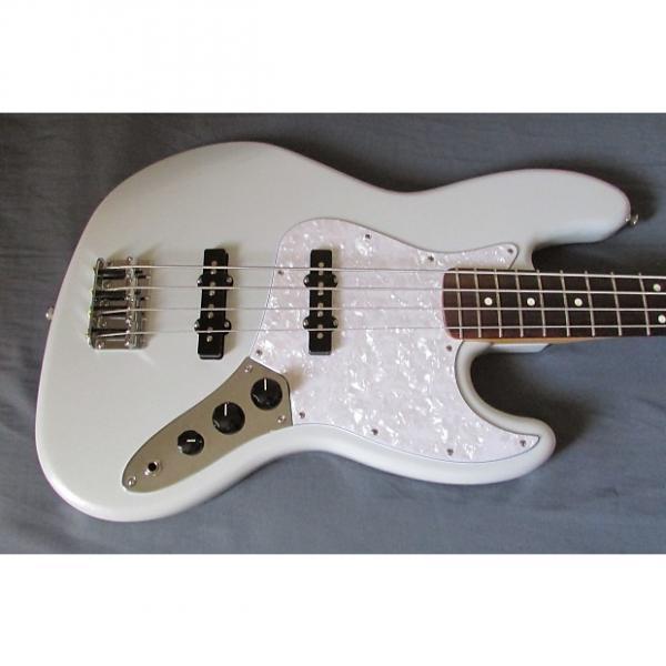 Custom Fender Special Edition White Opal Jazz Bass Guitar & Fender Gig Bag #1 image