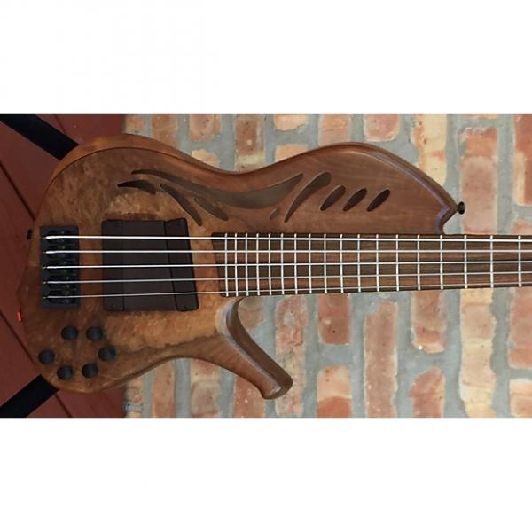 Custom Kenneth Lawrence ChamberBrase II 5 string bass guitar 2016 Natural Matte #1 image