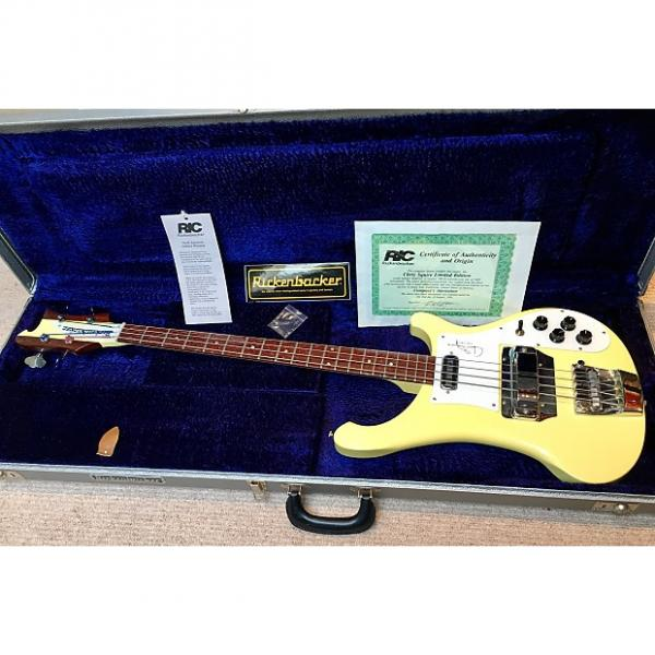 Custom Rickenbacker 4001CS - Chris Squire Limited Edition Bass 1991 Yellow #1 image