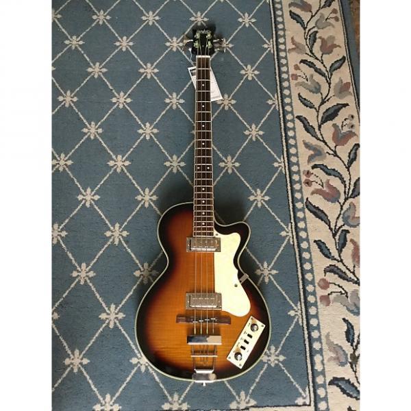 Custom Eastwood Club Bass Guitar Tobacco Burst #1 image