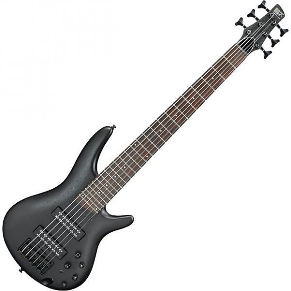 Custom Ibanez SR Standard SR306EB 6 String Electric Bass Weathered Black #1 image