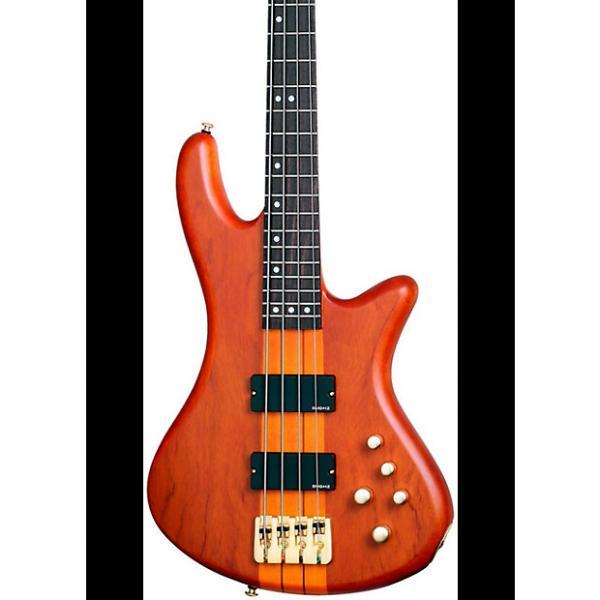 Custom Schecter Guitar Research Stiletto Studio-4 Bass  Satin Honey #1 image