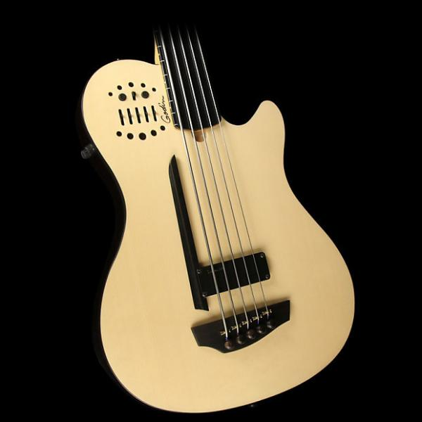 Custom Godin A5 Ultra Semi-Acoustic 5-String Fretless Bass Guitar Natural #1 image