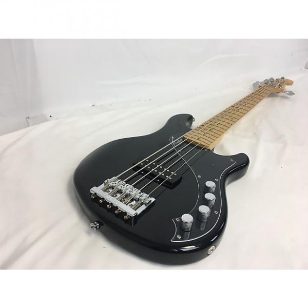 Custom Squier by Fender Demension 5 String Bass Black #1 image