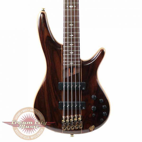Custom Brand New Ibanez SR1905E Premium Series 5 String Electric Bass in Natural Low Gloss with Gig Bag #1 image