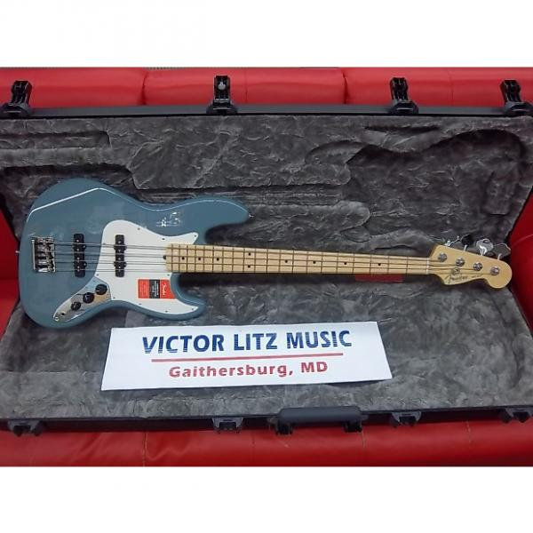 Custom Fender American Professional Jazz Bass Sonic Grey Maple Neck: Free Shipping! #1 image
