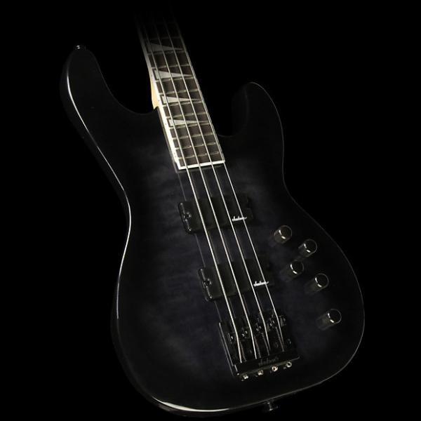 Custom Jackson JS3Q Concert Electric Bass Trans Black #1 image