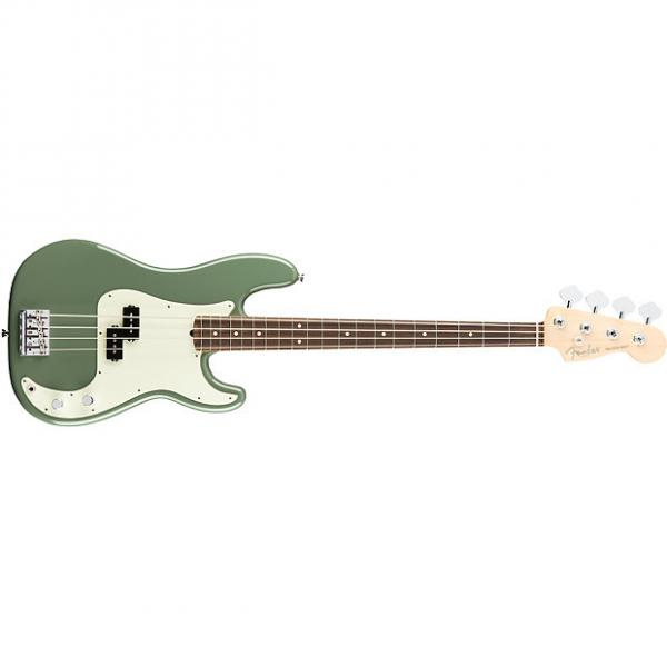Custom Fender American Pro Precision Bass Rosewood Fingerboard Antique Olive +Hard Case #1 image
