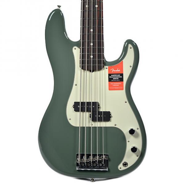 Custom Fender American Pro Precision Bass V MN Antique Olive #1 image