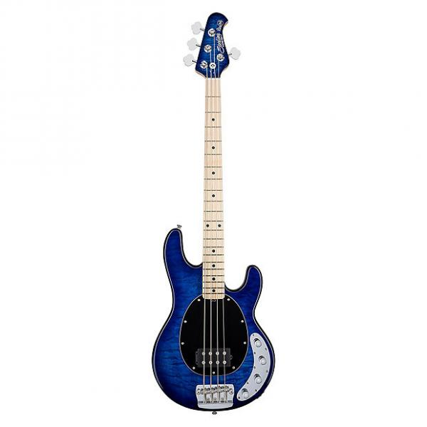 Custom Sterling by Music Man Ray34 Quilt Maple 4-String Electric Bass Neptune Blue +Bag #1 image