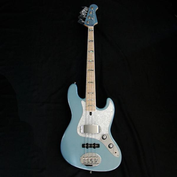 Custom Lakland USA 44-60 Ice Blue Metallic 4 String Jazz Bass FREE Tech 21 Sans Amp DI #1 image