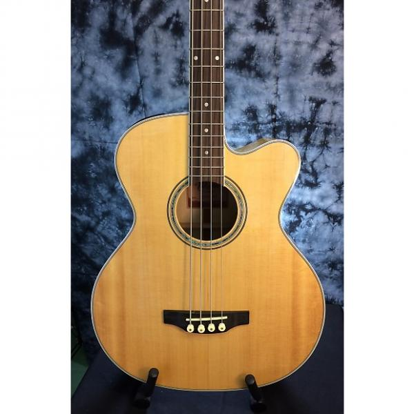 Custom Takamine  GB72CE Jumbo Acoustic Electric Bass w/Natural Solid Spruce Top & Flame Maple Back #1 image