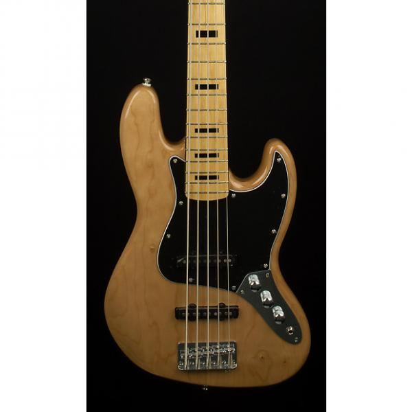 Custom Fender Squier Vintage Modified Jazz Bass V Maple Natural #1 image