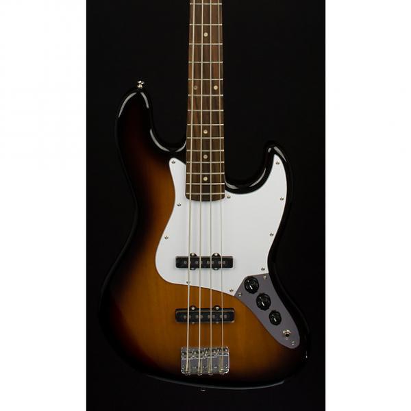 Custom Fender Squier Affinity Series Jazz Bass Brown Sunburst #1 image