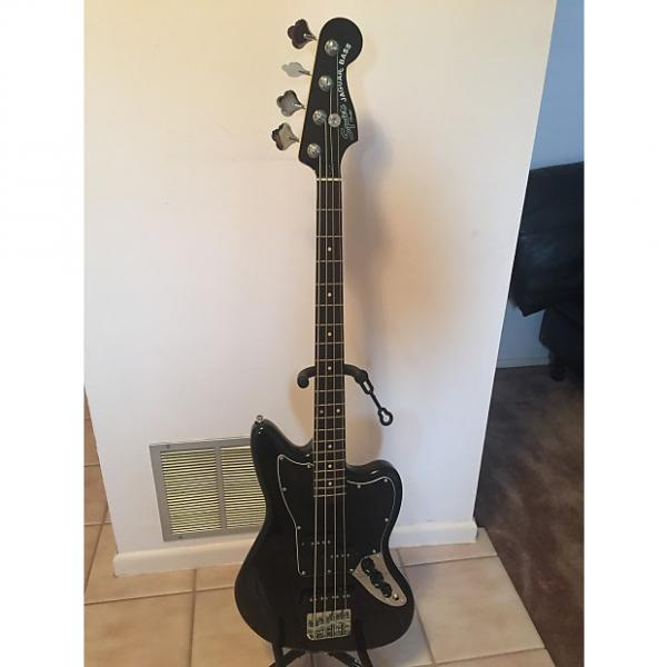 Custom Fender Squier Vintage Modified Jaguar Bass Special SS (Short Scale) 2016 Black #1 image