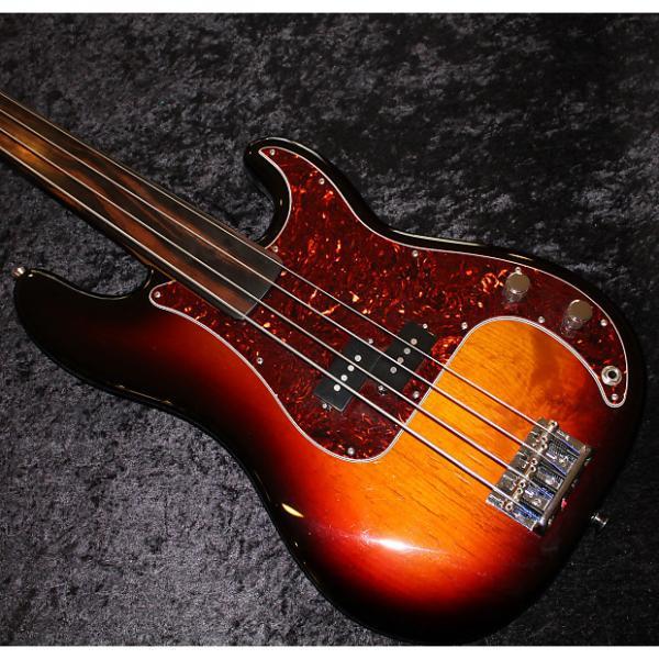 Custom 2015 Fender USA Standard P Bass w Amazing Fretless Warmoth Neck #1 image