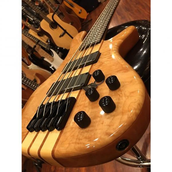 Custom Wolf TM5 Neck Through 5 String Bass Gloss Natural #1 image