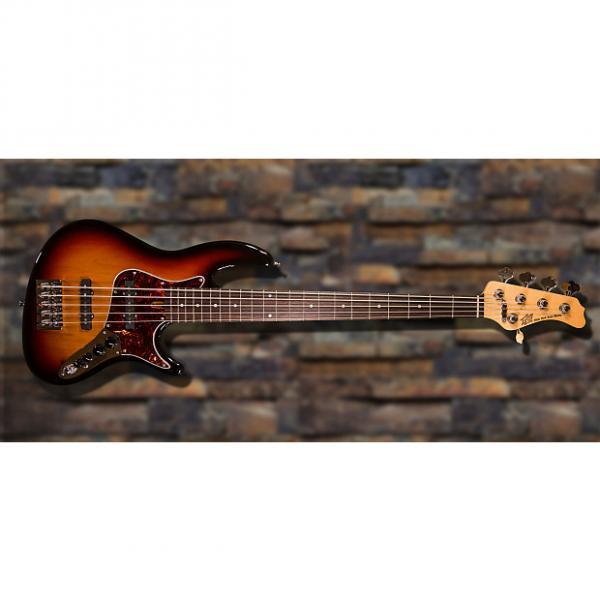 Custom New York Bass Works Reference Series RS5-22 3 Tone Sunburst #1 image