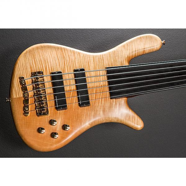 Custom Warwick Streamer LX Fretless 6 String Bass 2000 Natural #1 image