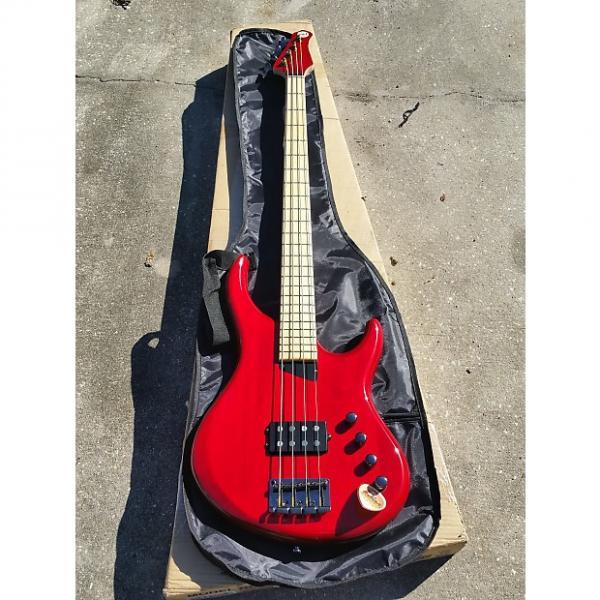 Custom MTD Kingston The Artist  Trans Red on Maple Beautiful Bass #1 image