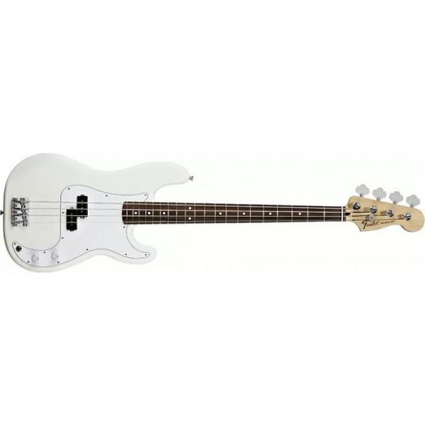 Custom Fender Standard Precision Bass Arctic White Guitar Rosewood 0136100380 #1 image