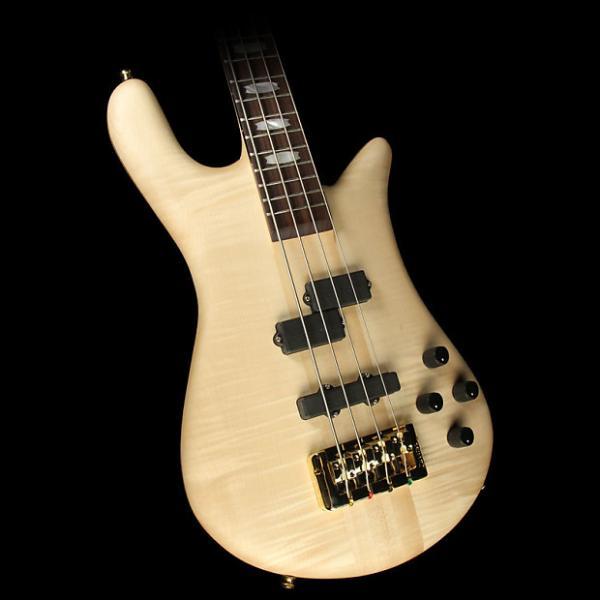 Custom Spector Euro4 LX Electric Bass Guitar Natural Matte #1 image