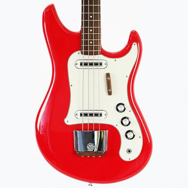 Custom 1966 Yamaha SB-2 Electric Bass Guitar - Super Clean, Early Example in Red with OHSC & Accessories! #1 image