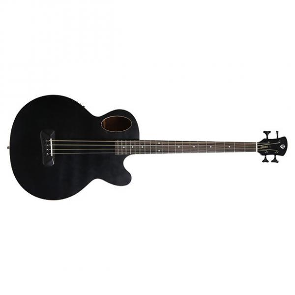 Custom NEW! Spector Timbre acoustic electric bass guitar in black with gigbag #1 image