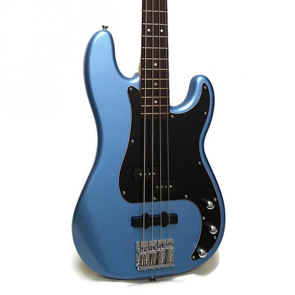 Custom Squier Vintage Modified Precision Bass PJ Electric Bass - Lake Placid Blue #1 image