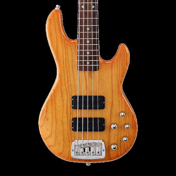 Custom G&L Tribute M-2500 5-String Bass - Honeyburst #1 image