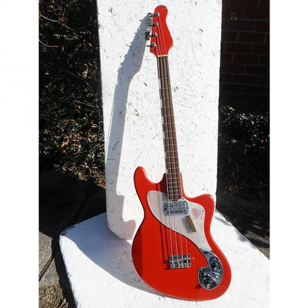 Custom Zimgar Bass Guitar, 1960's, Japan,  1 Pickup, Red, Very Cool #1 image