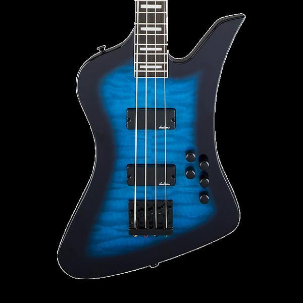 Custom Jackson JS Series Kelly Bird JS3Q Electric Bass - Transparent Blue Burst #1 image