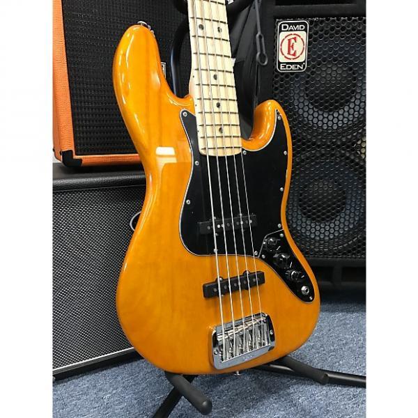 Custom G&L JB-5 USA 5 String Jazz Bass Honey Premier Finish Empress wood 2017 8.4lbs #1 image