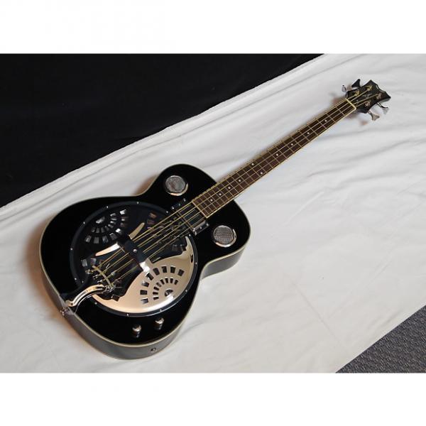 Custom DEAN Resonator Bass 4-string acoustic electric BASS guitar NEW Classic Black - B #1 image