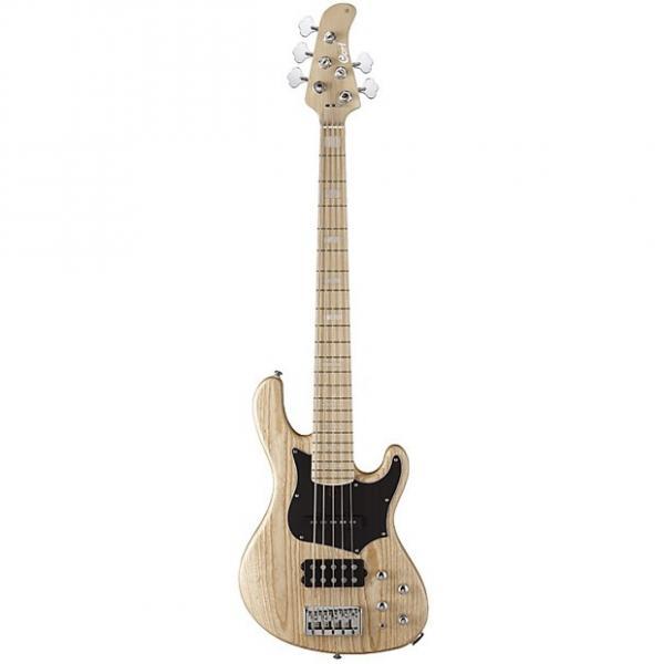 Custom Cort GB Series GB75 5-String Electric Bass Guitar, Open Pore Natural #1 image