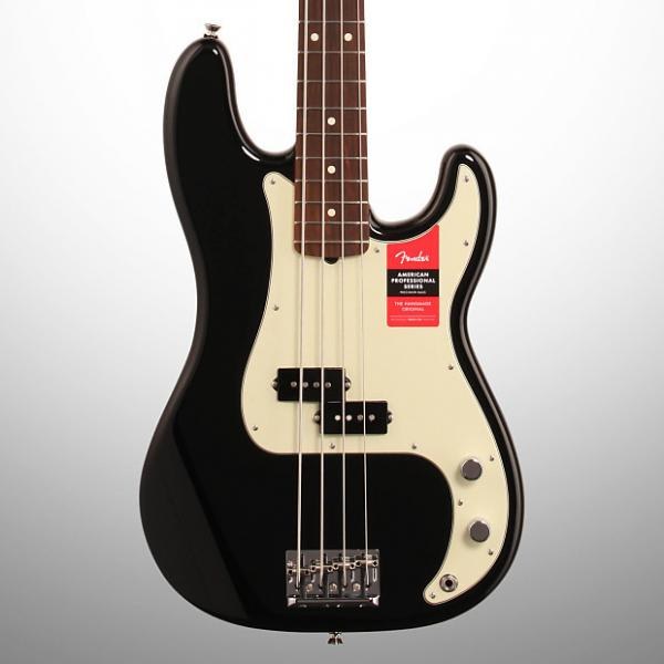 Custom Fender American Pro Precision Electric Bass, Rosewood Fingerboard (with Case), Black #1 image