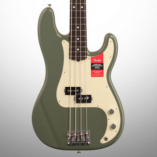 Custom Fender American Pro Precision Electric Bass, Rosewood Fingerboard (with Case), Antique Olive #1 image