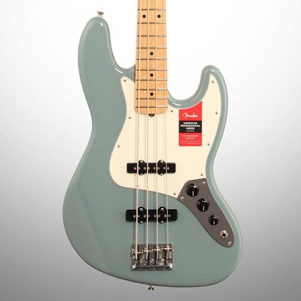 Custom Fender American Pro Jazz Electric Bass, Maple Fingerboard (with Case), Sonic Gray #1 image
