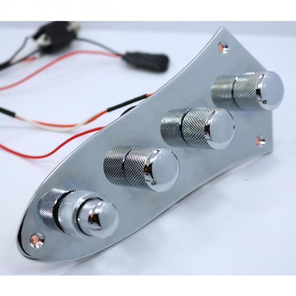 Custom Bassmods  Bass Mods 34AP-PB Bass preamp on Jazz Style Chrome plate #1 image