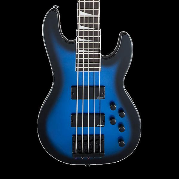 Custom Jackson JS Series Concert Bass JS3V 5-String Bass - Metallic Blue Burst #1 image