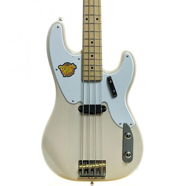 Custom Squier Classic Vibe Precision '50s Bass Guitar White Blonde #1 image