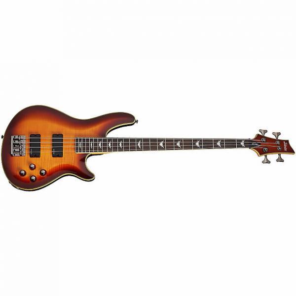 Custom Schecter Omen Extreme-4 Electric Bass Guitar Vintage Sunburst VSB *New* + FREE GIG BAG #1 image