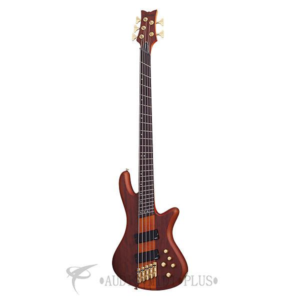 Custom Schecter Stiletto Studio-5FF Rosewood Fretboard Electric Bass Honey Satin - 2794  - 815447023747 #1 image