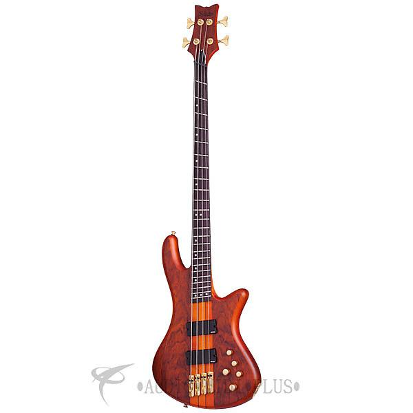 Custom Schecter Stiletto Studio-4 FF Rosewood Fretboard Electric Bass Honey Satin - 2793 - 815447023730 #1 image